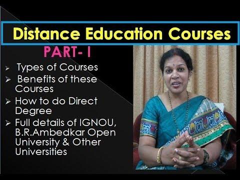 Distance Education Courses : PART  1