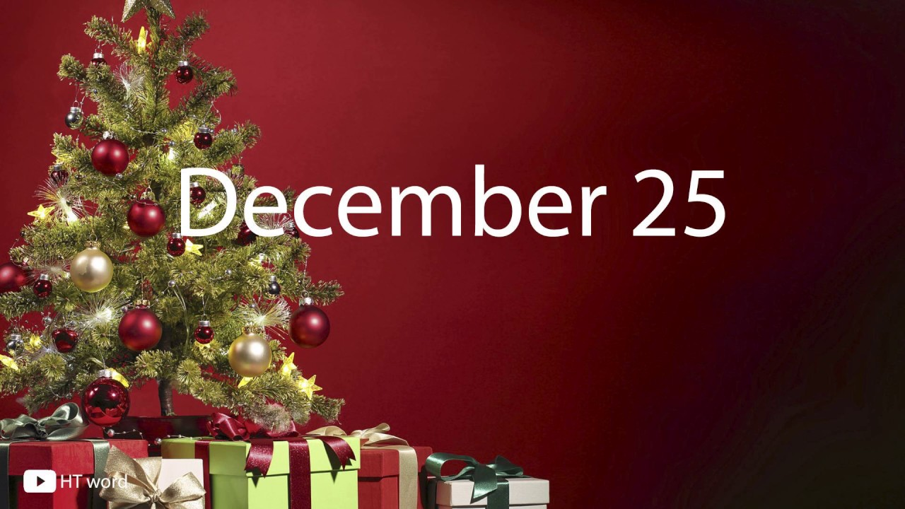 how to pronounce december 25 christmas words