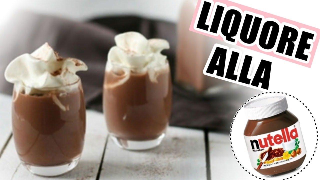 Liquore Alla Nutella Diy Liqueur Nutella Youtube