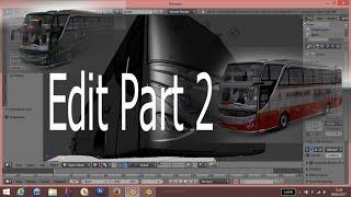 Ets2 | Proses Edit Body Bus Setra Shd #part 2 | aplikasi Blender