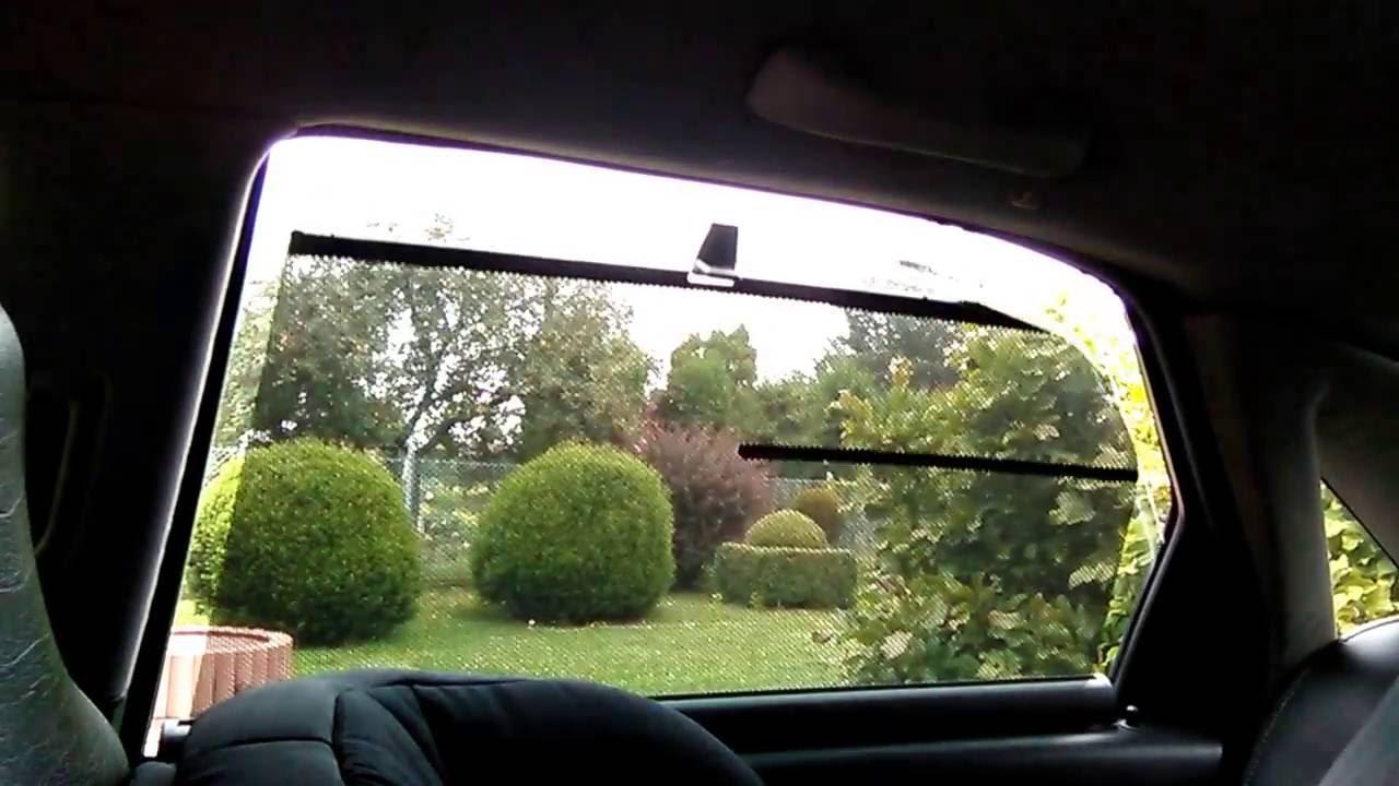 Rolety przeciwsłoneczne drzwi tylnych Volvo S80 - YouTube