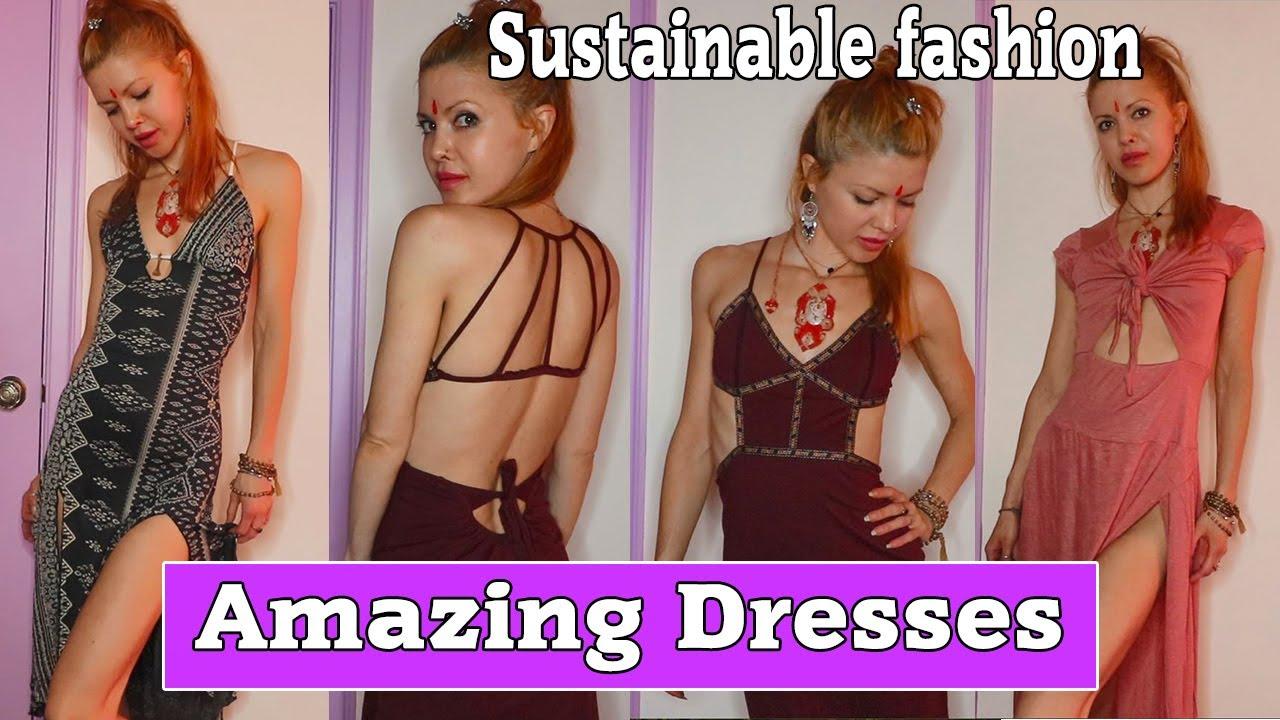 AMAZING SUSTAINABLE DRESSES TRY ON HAUL | SLOW FASHION