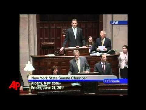 Raw Video: NY Legislature Legalizes Gay Marriage