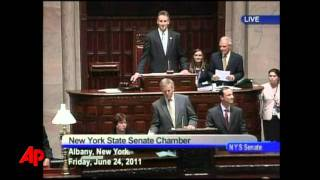 Raw Video: NY Legislature Legalizes Gay Marriage