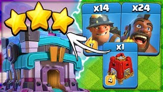 Hog Miner Hybrid Best TH13 Ground Attack | TH13 Clan War 3 Star Attack Strategy in Clash of Clans