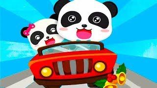 Малыш Панда Автомобильные Гонки.Доставим Подарки к Рождеству для Друзей Панды.Мультик Игра для Детей
