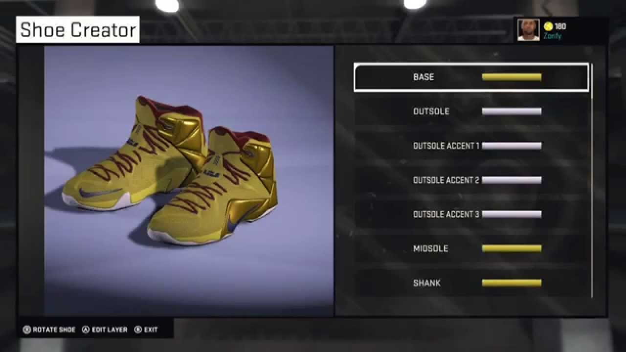 lebron shoes 2015 finals. nba 2k15 shoe creator - nike lebron 12 pe \ lebron shoes 2015 finals