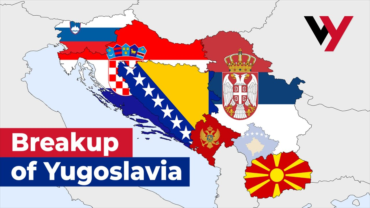 Yugoslavia Break Up Map The Breakup of Yugoslavia   YouTube
