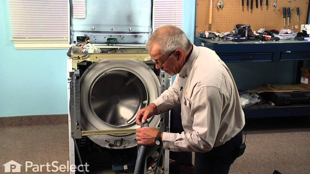 Washing Machine Repair Replacing The Bellow Whirlpool