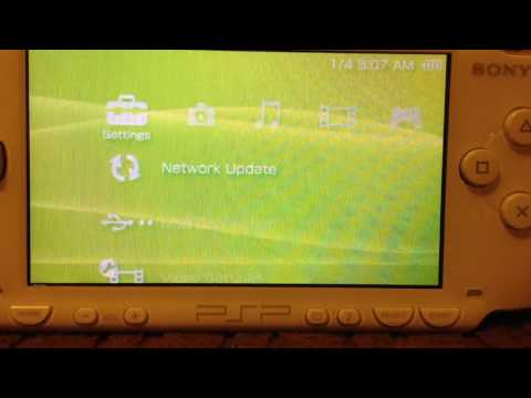 Updating Psp 1000 Version 2.81 To 6.61 PART 1