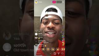 LIL NAS X PREVIEWS NEW SONG PANINI ON INSTAGRAM LIVE!! (DROPPING VERY SOON)