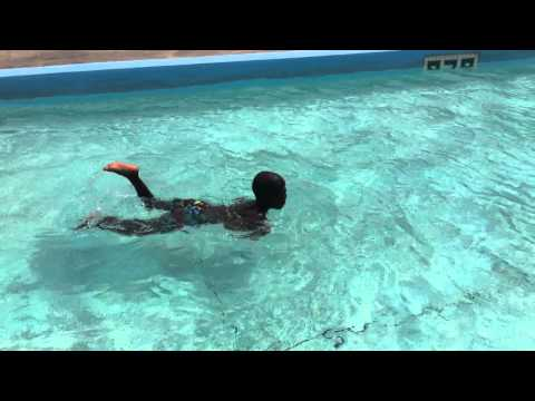 club indigo, haiti: allen can swim!