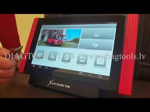 LAUNCH X-431 EURO TAB - Demonstration Video