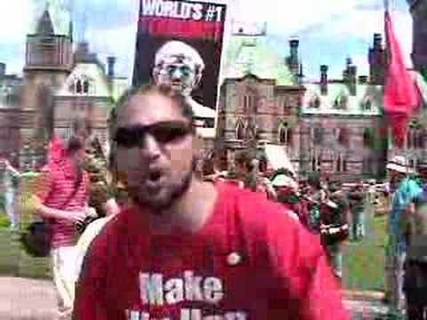 SPP Protest - Ottawa - Hip hop artist