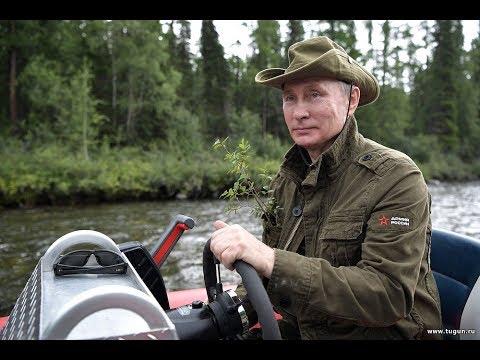 ПУТИН В.В. за штурвалом лодки ФРЕГАТ от СТИХИИ ВОДЫ Абакан