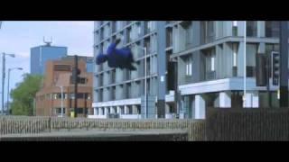 Merry Men Jump and Flip Through City