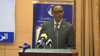 President Kagame speaking at the International University of Africa | Khartoum, 21 December 2017