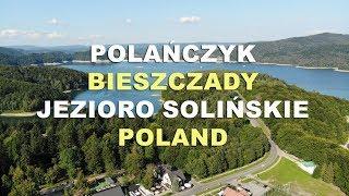 Polańczyk i Jezioro Solińskie 4K z lotu ptaka. Bieszczady 2020