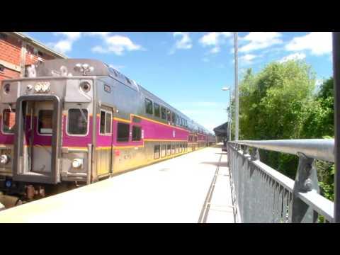 Plymouth Commuter Rail Train Station Inbound to Boston