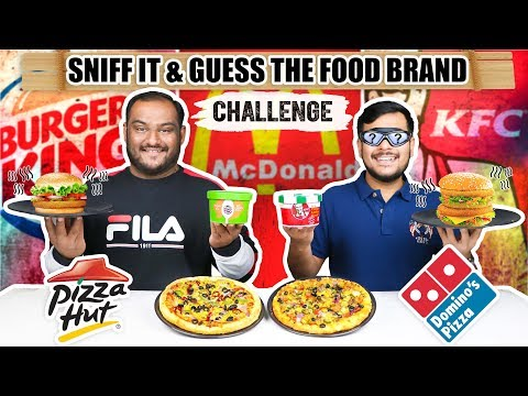 SNIFF IT & GUESS THE FOOD BRAND CHALLENGE | Guess The Food Challenge | KFC Food Challenge