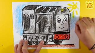 How to draw Diesel  from Thomas and Friends