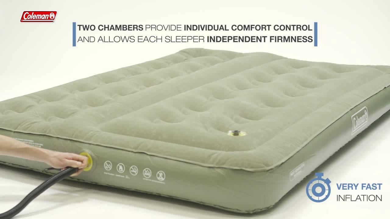 Coleman Comfort Bed Double  inflatable airbed  EN  YouTube