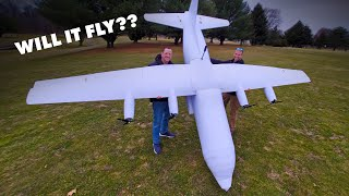 Will it fly? | 15-Foot C-130 Hercules Cargo Plane? 😱