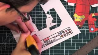 Time Lapse Iron Man Papercraft
