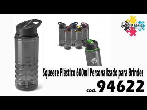 Squeeze Plástico 600lm 94622 Personalizado - Criative Brindes