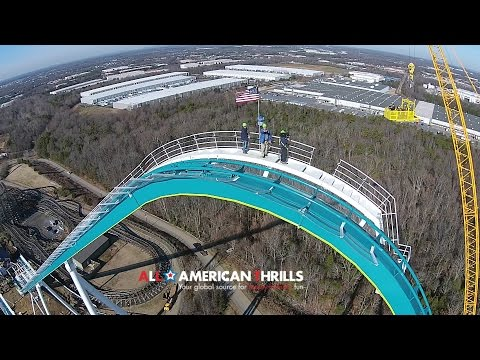 Travel Channel filming at Carowinds of FURY 325 In HD