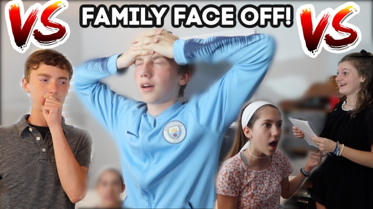 FAMILY FACE OFF CHALLENGE! | Match Up