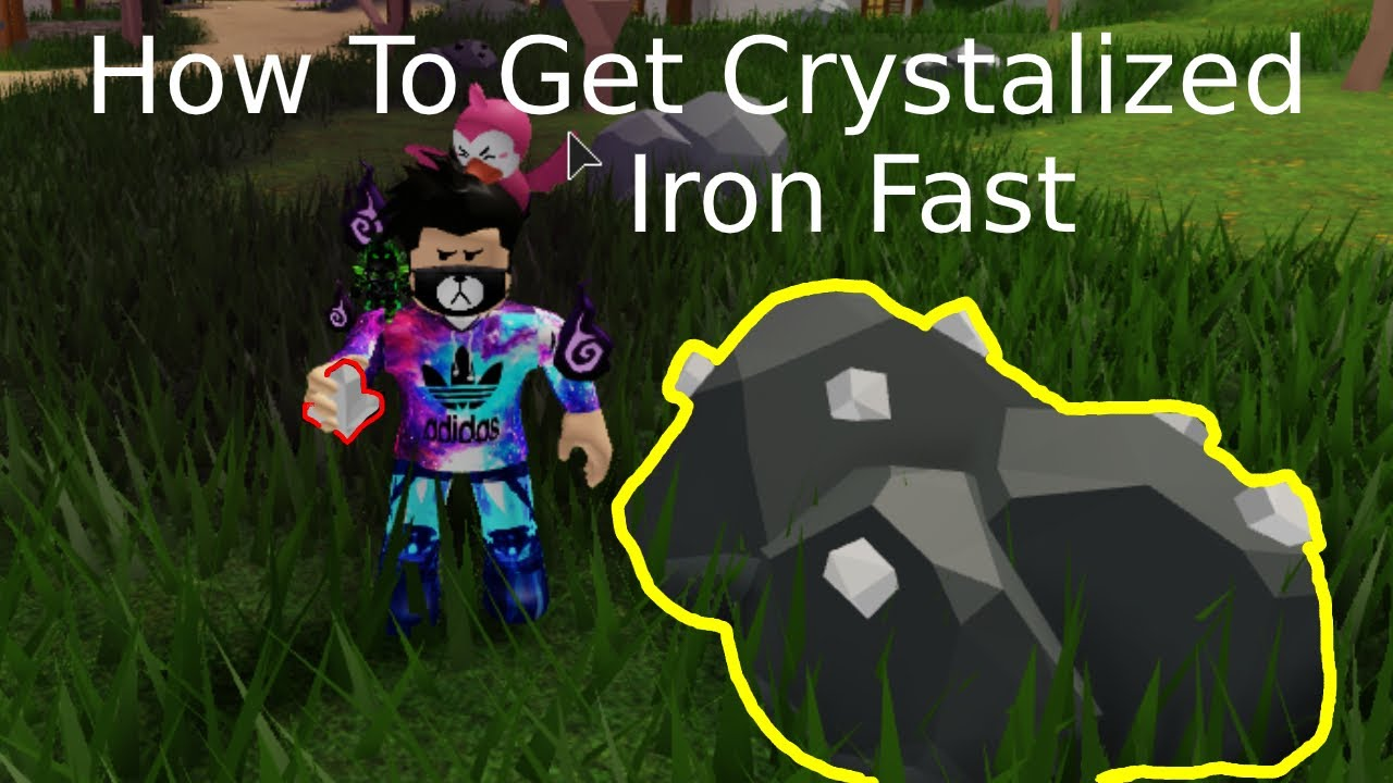 Fastest Way To Get Crystalized Iron Roblox Skyblock Youtube