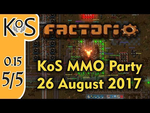 Factorio MMO 1 Year Channelversay Party - 5of5 - 26 Aug 2017  - Achievements - Multiplayer (v 0.15)