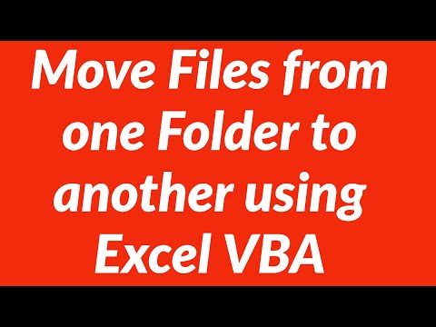 Move Files from one Excel Folder to another using VBA