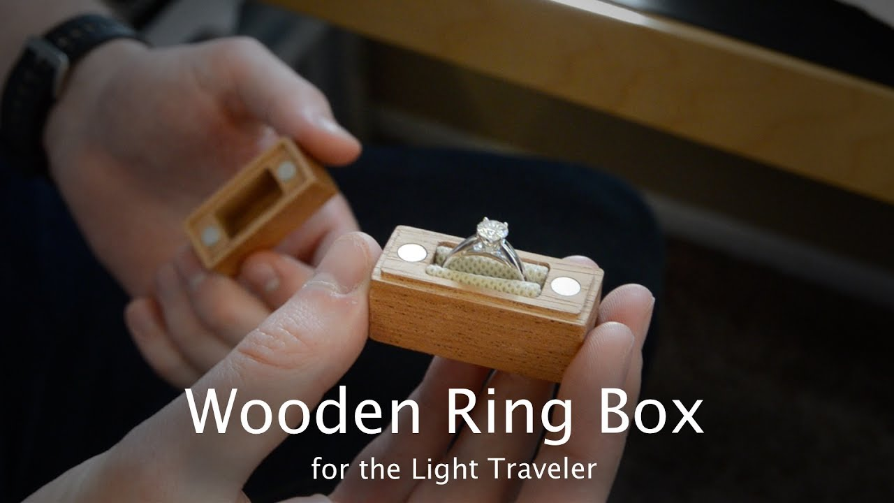 Tiny Wooden Engagement Ring Box Cnc Project 93
