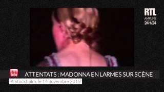 Attentats à Paris : Madonna en larmes pendant son concert à Stockholm