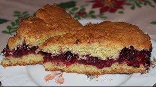 Простой рецепт вкусного вишневого пирога