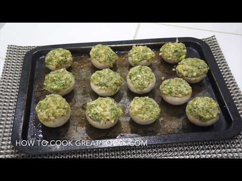 Garlic Cheese Stuffed Mushrooms Recipe - Mushroom Recipe - Easy N Simple