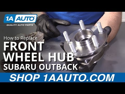 How to Replace Front Wheel Hub 05-14 Subaru Outback