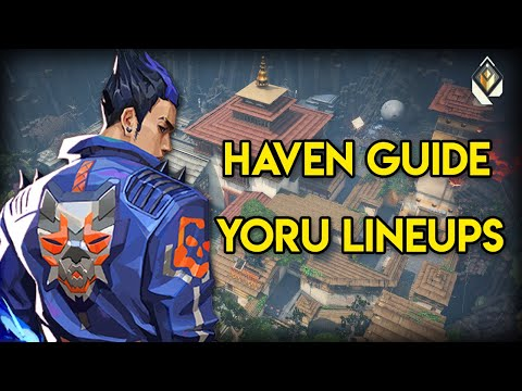 Yoru Teleport lineups to Enemy Spawn on Haven   COMPLETE GUIDE to Yoru Lineups