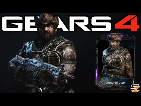 """Gears of War 4 - """"Armored Dizzy"""" Multiplayer Gameplay! (Gears 4 Craft-Only DLC Character)"""