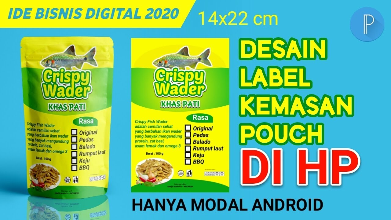 Cara Desain Label Kemasan Pouch di HP Aplikasi Pixellab-How to Design Pouch Packaging  Pixellab