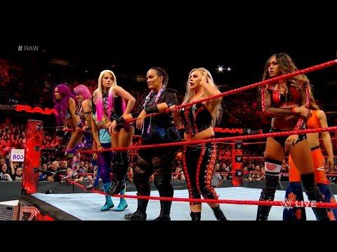 Sasha Banks and Raw Womens Locker Room save Asuka
