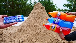 Experiment: Fanta Mix vs Mentos Underground. Supervolcano Eruption Supereffect!