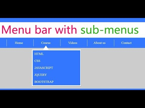 Create A Drop Down Menu / Navigation Bar With Sub Menus Using Html And Css | Web Zone