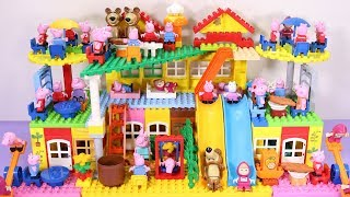 Peppa Pig Lego House Building With Water Slide Toys #4