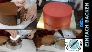 Schneller Torten Aufbau | Torten einstreichen | Grundtechnik
