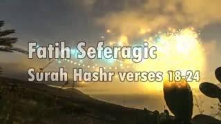 menangis mendengar bacaan surah al hashr ayat 18 24 oleh fatih seferagic