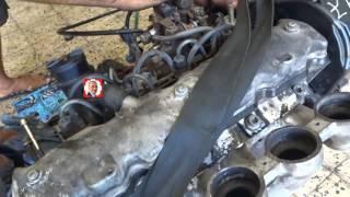 mise en marche d'un moteur de voiture peugeot 405 - تشغيل محرك السيارة