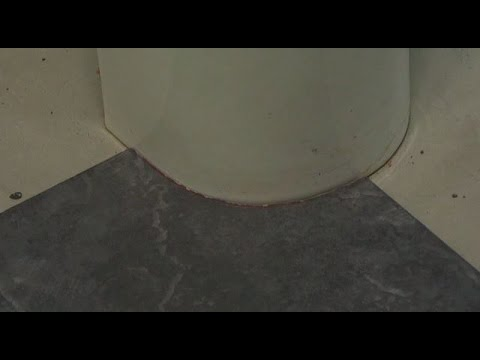 Cutting The Curve How To Install Tile Around A Toilet Youtube